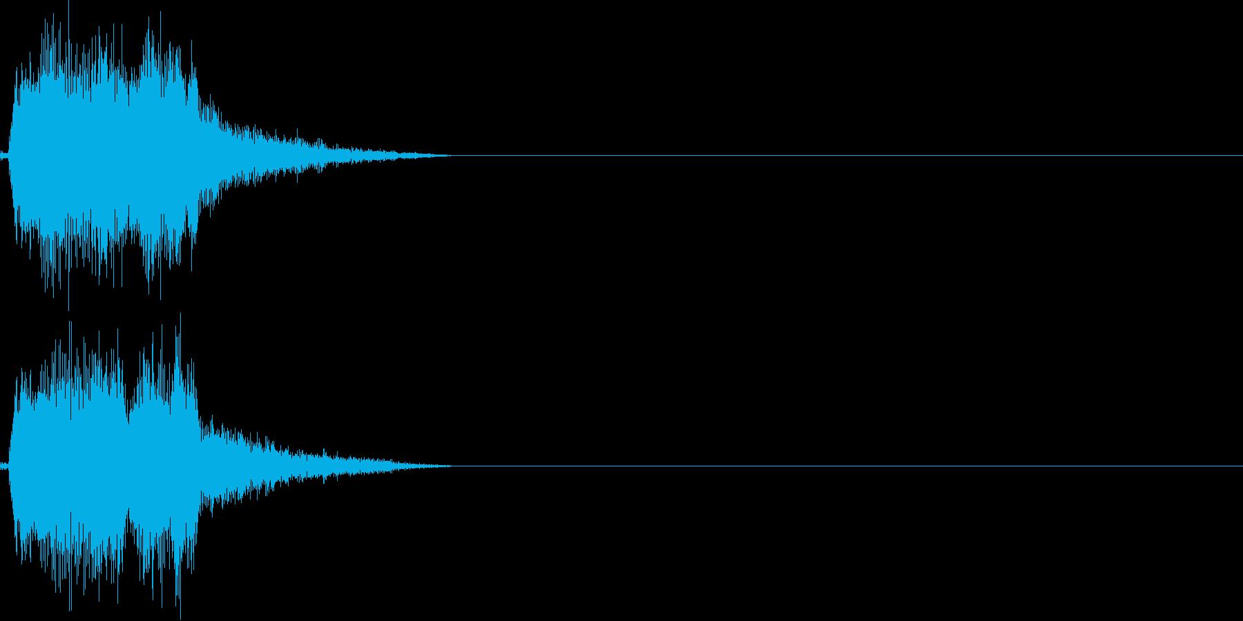 決定音(若干ゲーム寄り)の再生済みの波形
