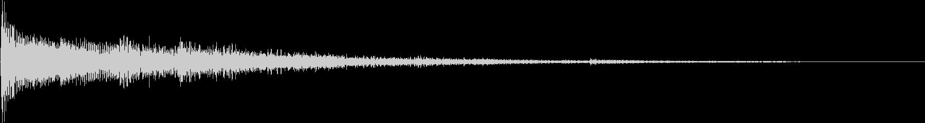 サウンドロゴ メロディック 不穏の未再生の波形