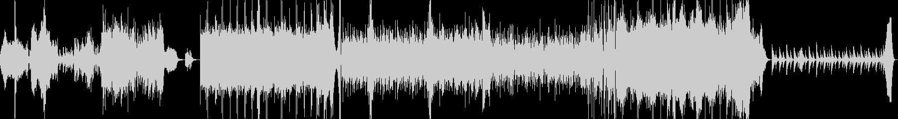 エスニック調のBGM音源の未再生の波形