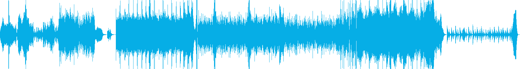 エスニック調のBGM音源の再生済みの波形