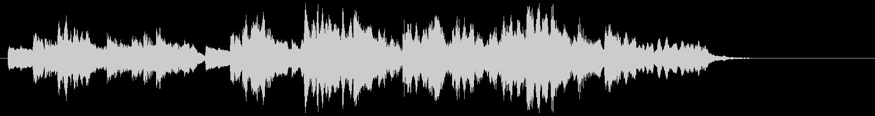 ピアノとフルートのおしゃれなジングルの未再生の波形
