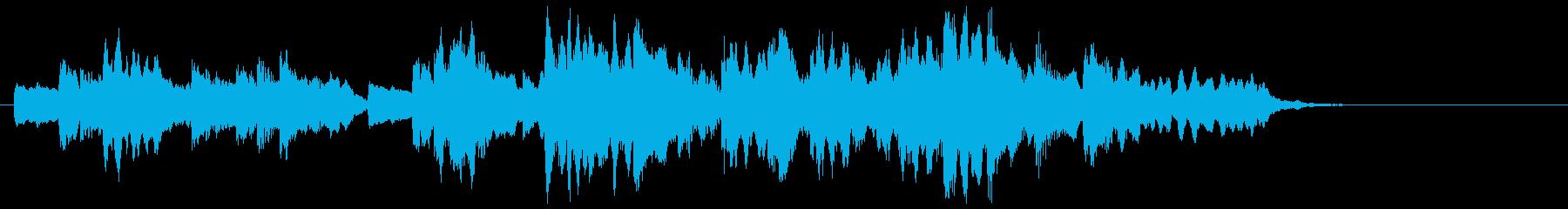 ピアノとフルートのおしゃれなジングルの再生済みの波形