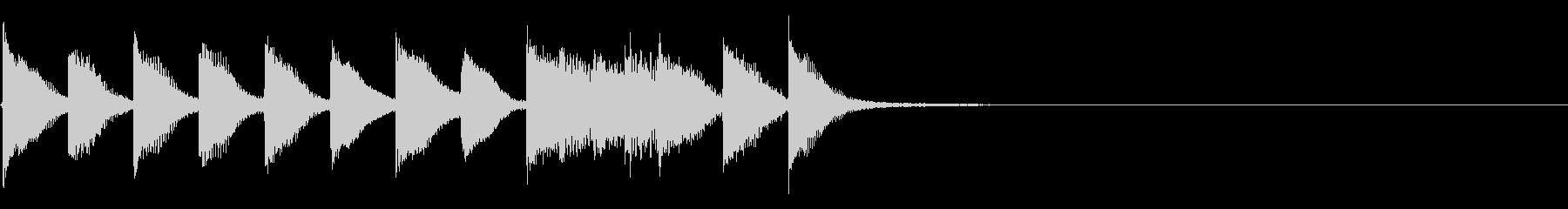 明るく かわいいピアノサウンドロゴ09の未再生の波形