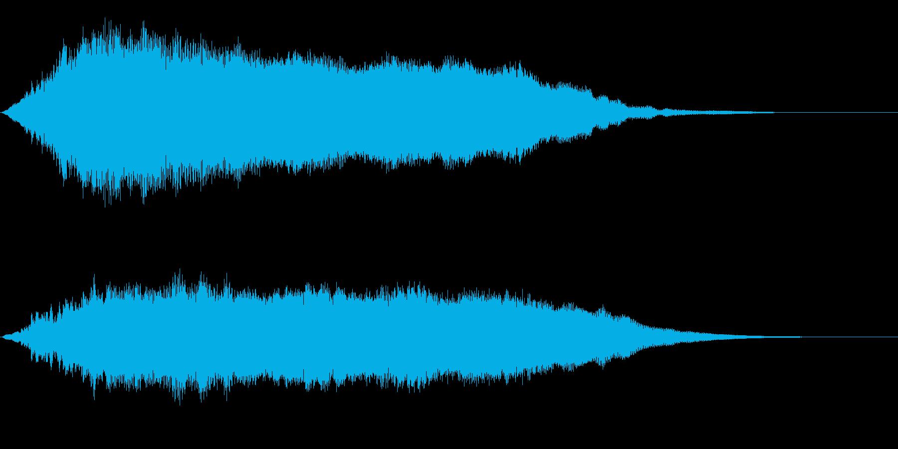 タイタニック船の内部的なサスペンスSEの再生済みの波形