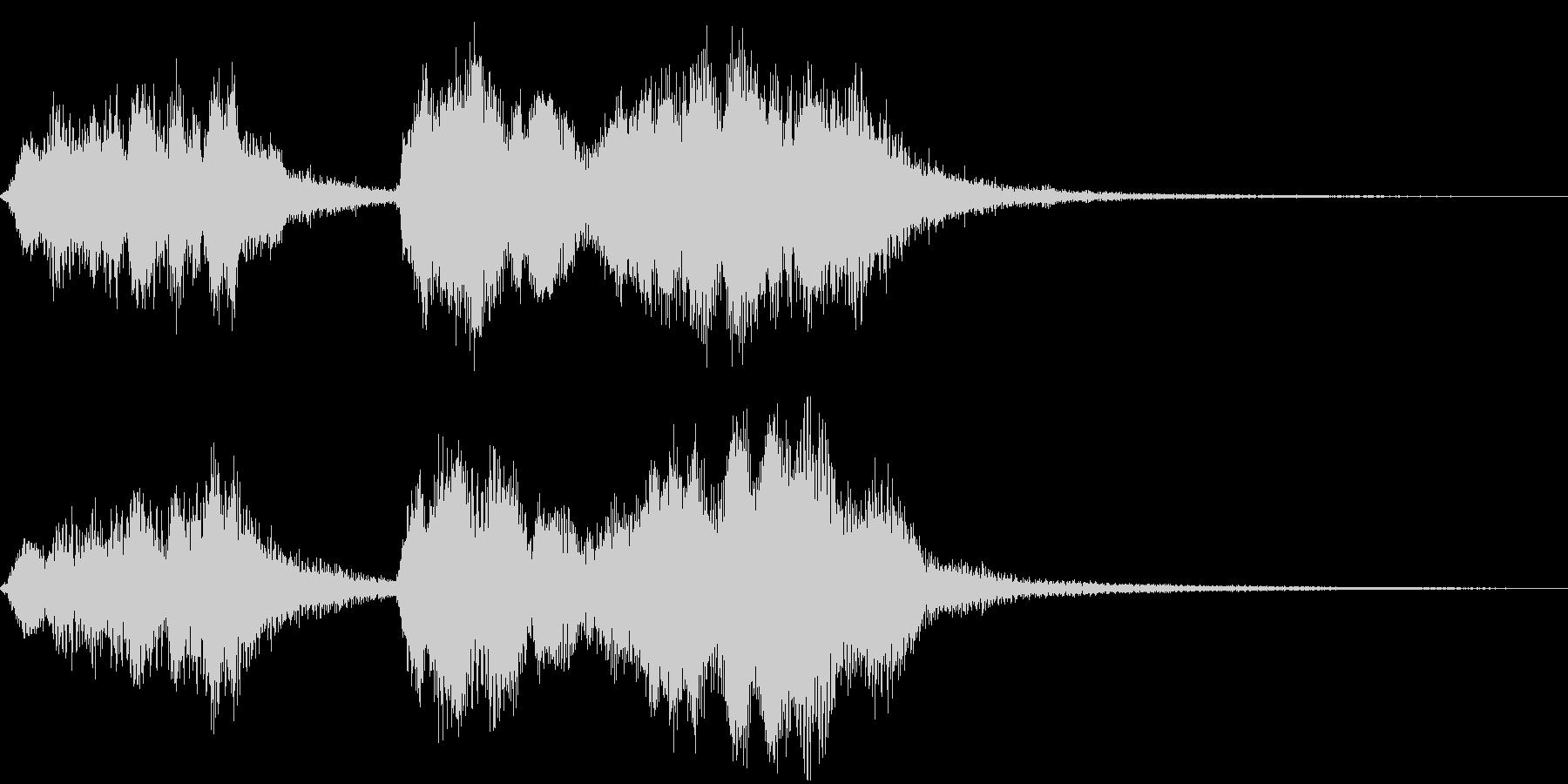 管弦楽によるかわいいジングルの未再生の波形