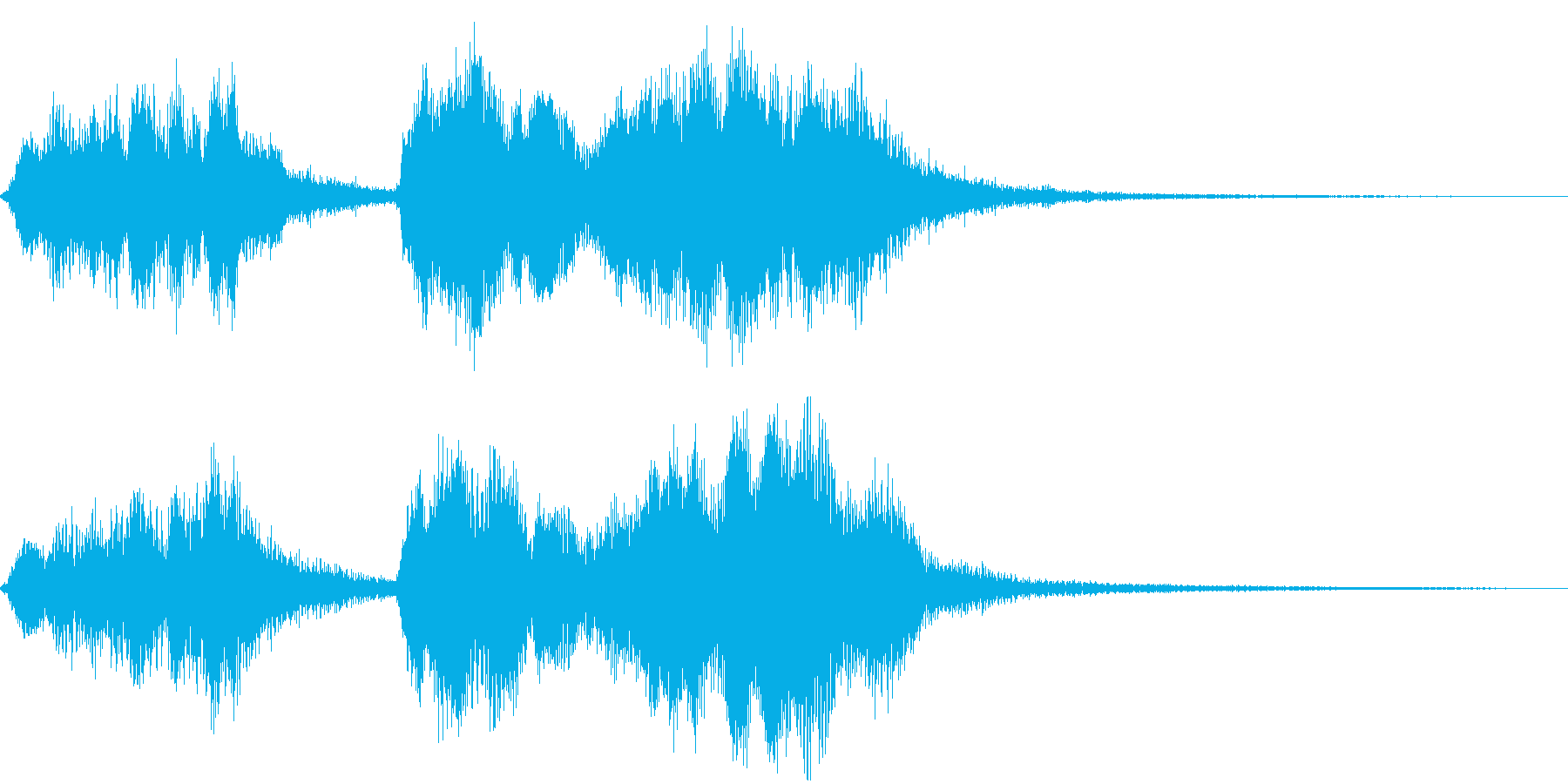 管弦楽によるかわいいジングルの再生済みの波形