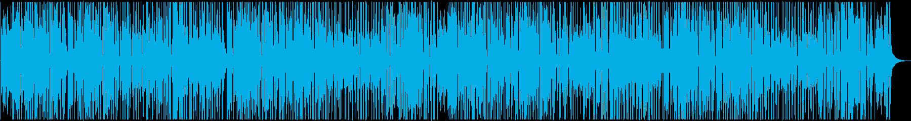 ラテン風味のレゲエヒップホップの再生済みの波形