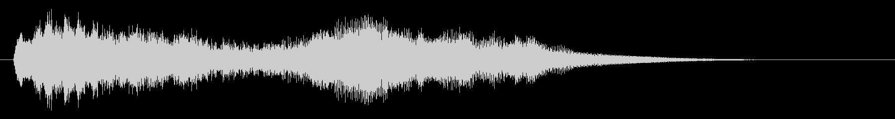 ストリングスとハープの透明感あるジングルの未再生の波形