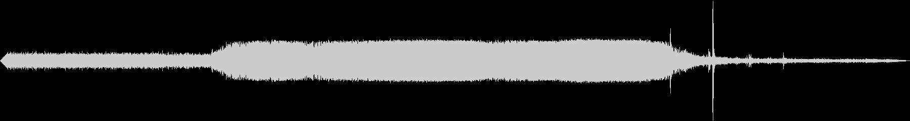 ディーゼルカーの出発 エンジン音の未再生の波形