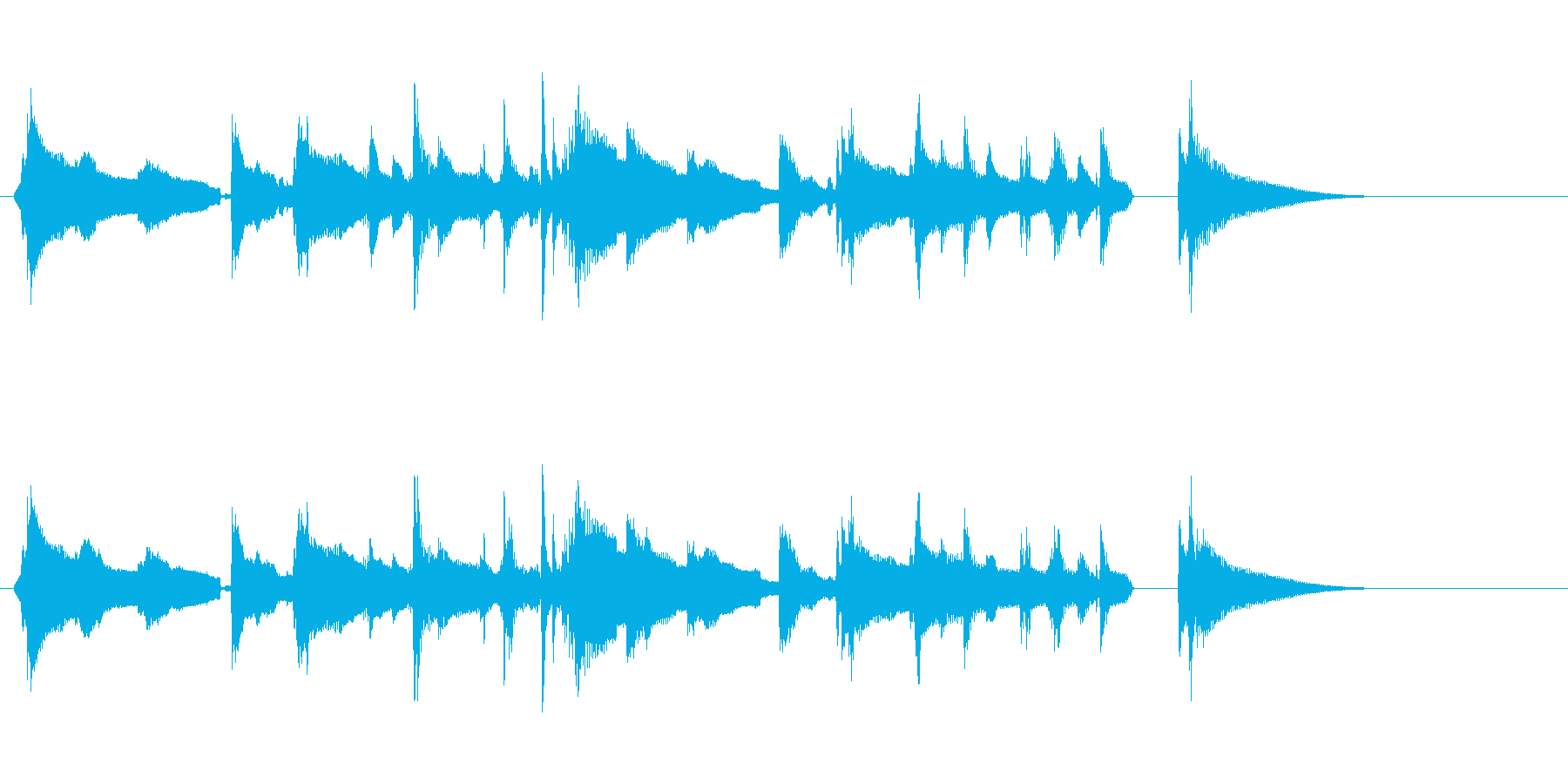 ほのぼの/ペット/赤ちゃん/ジングルの再生済みの波形