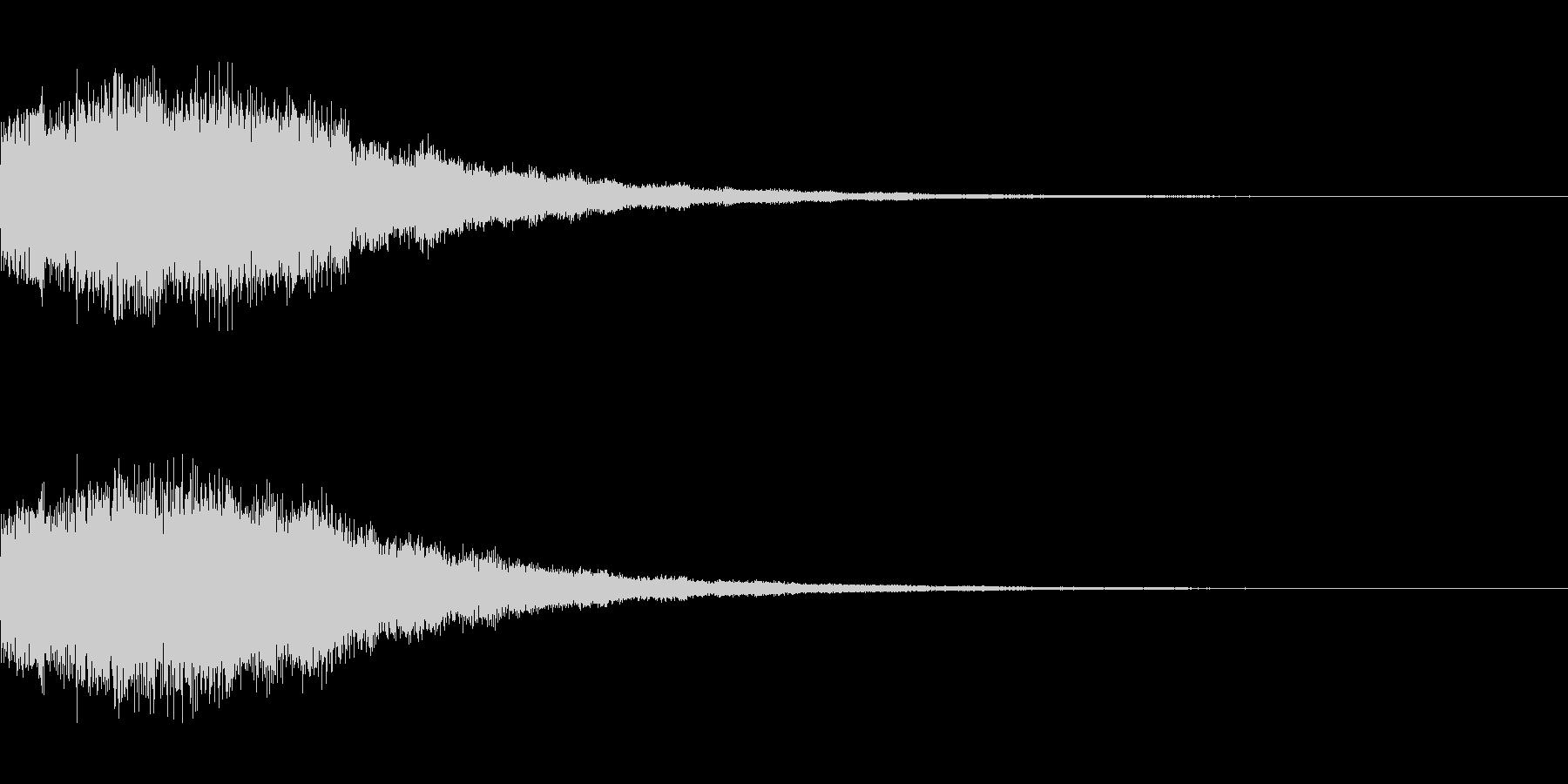 シンセサイザー 決定/スタート音1の未再生の波形