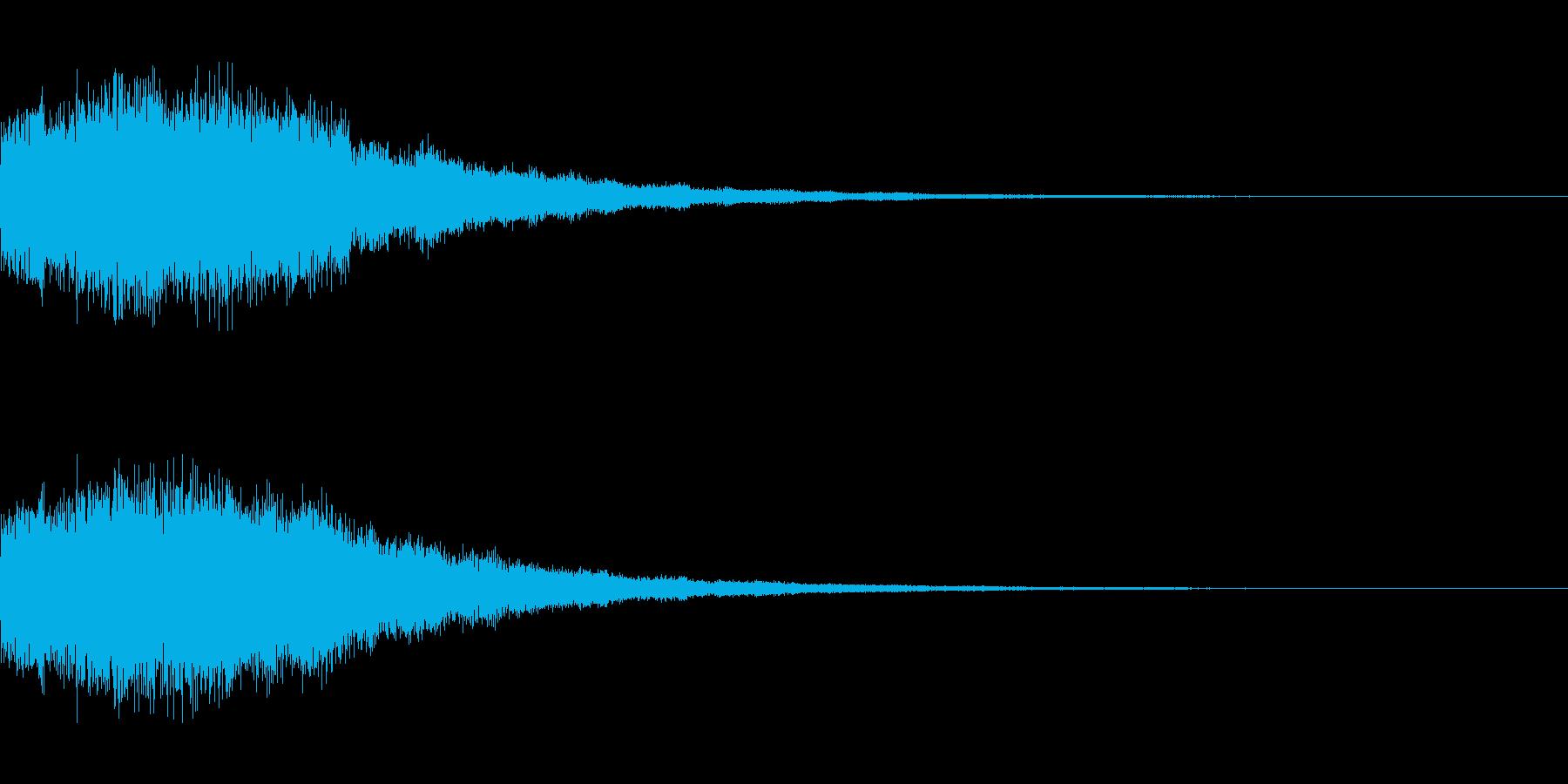 シンセサイザー 決定/スタート音1の再生済みの波形
