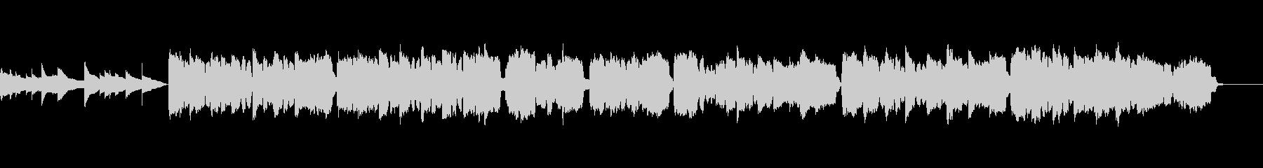 フルートとエレピとハープによる子守歌の未再生の波形