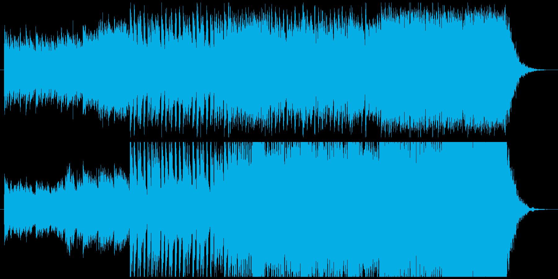 オープニングを予感させるワクワクする楽曲の再生済みの波形