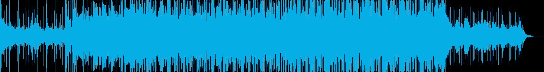 ピアノ、サックスを主体としたハウスの再生済みの波形
