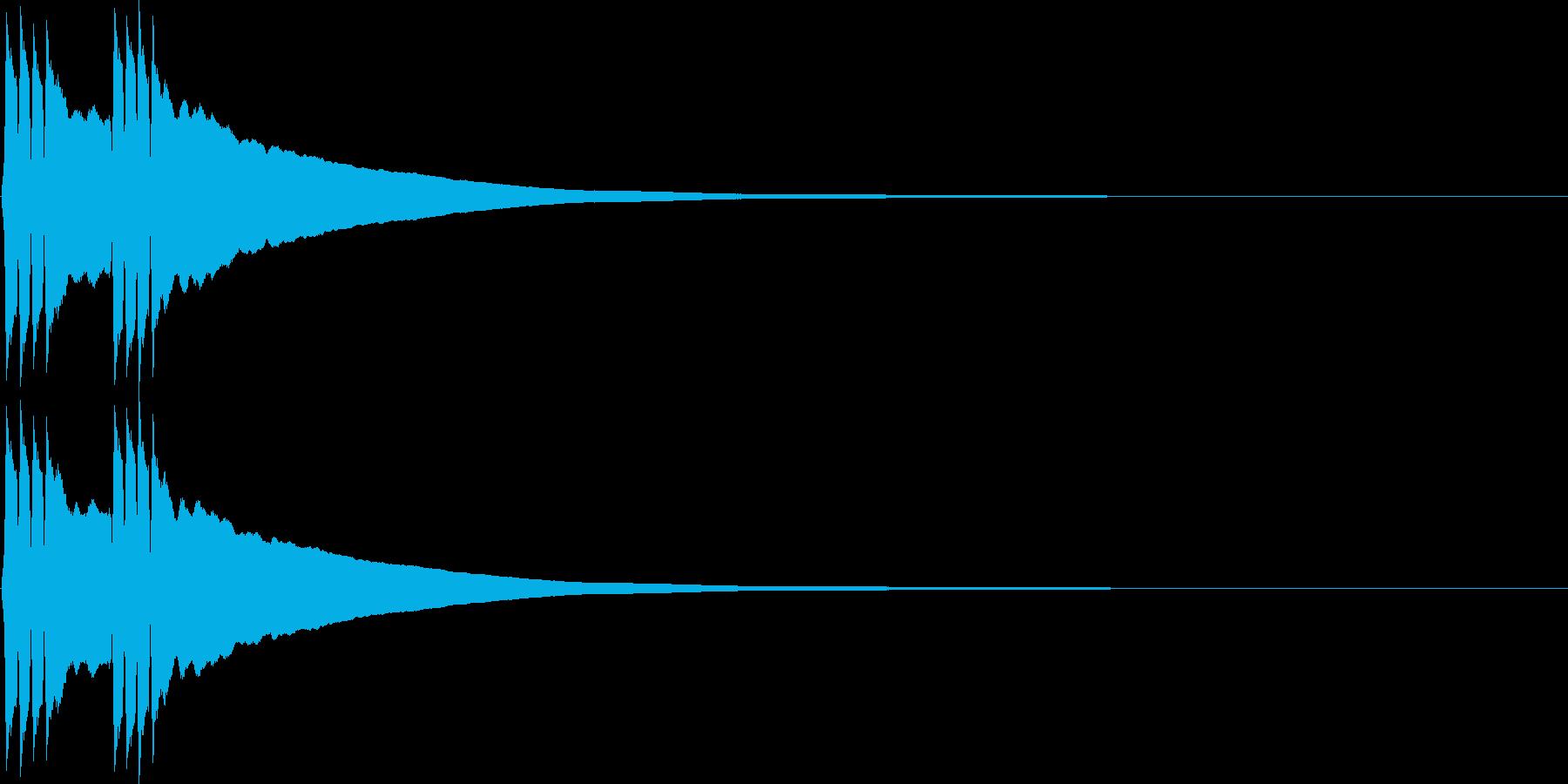リンリン。自転車のベルA(高)の再生済みの波形