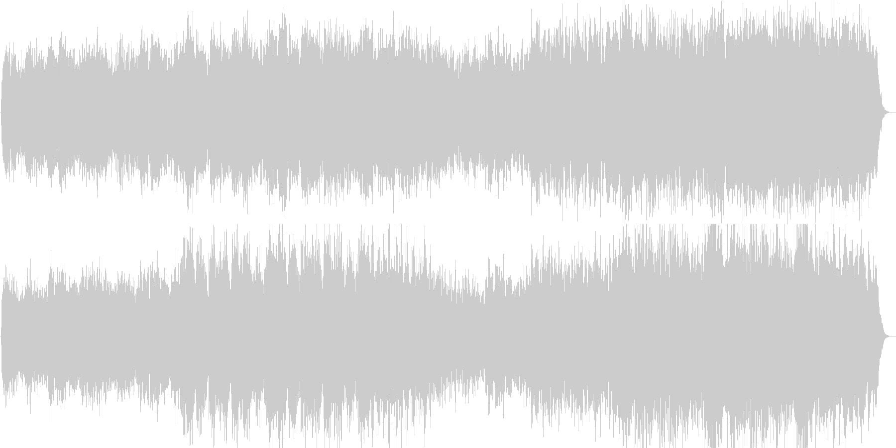 桜をイメージさせるキーボード曲の未再生の波形