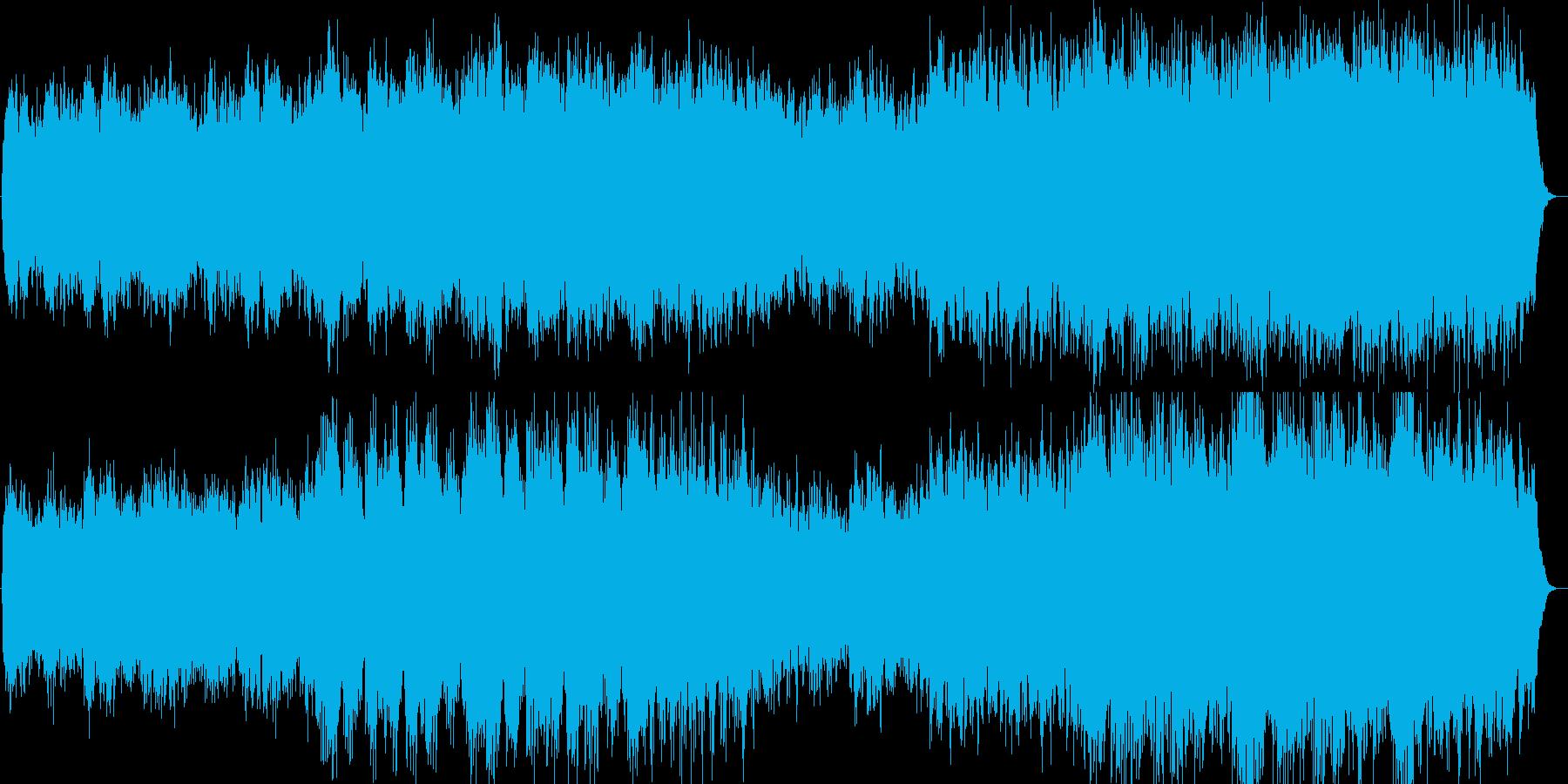 桜をイメージさせるキーボード曲の再生済みの波形
