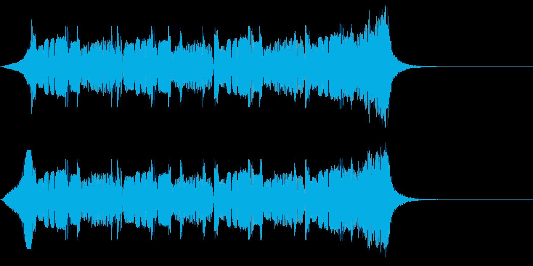 ちょっと不穏でコミカルな長めジングルの再生済みの波形