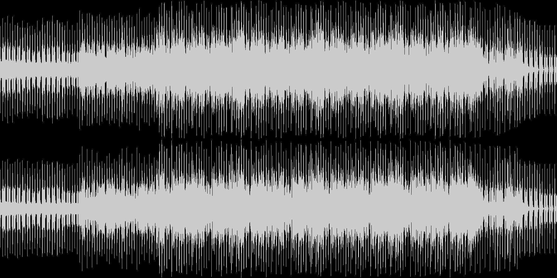 ピアノとシンセとコーラスの落ち着いた曲調の未再生の波形
