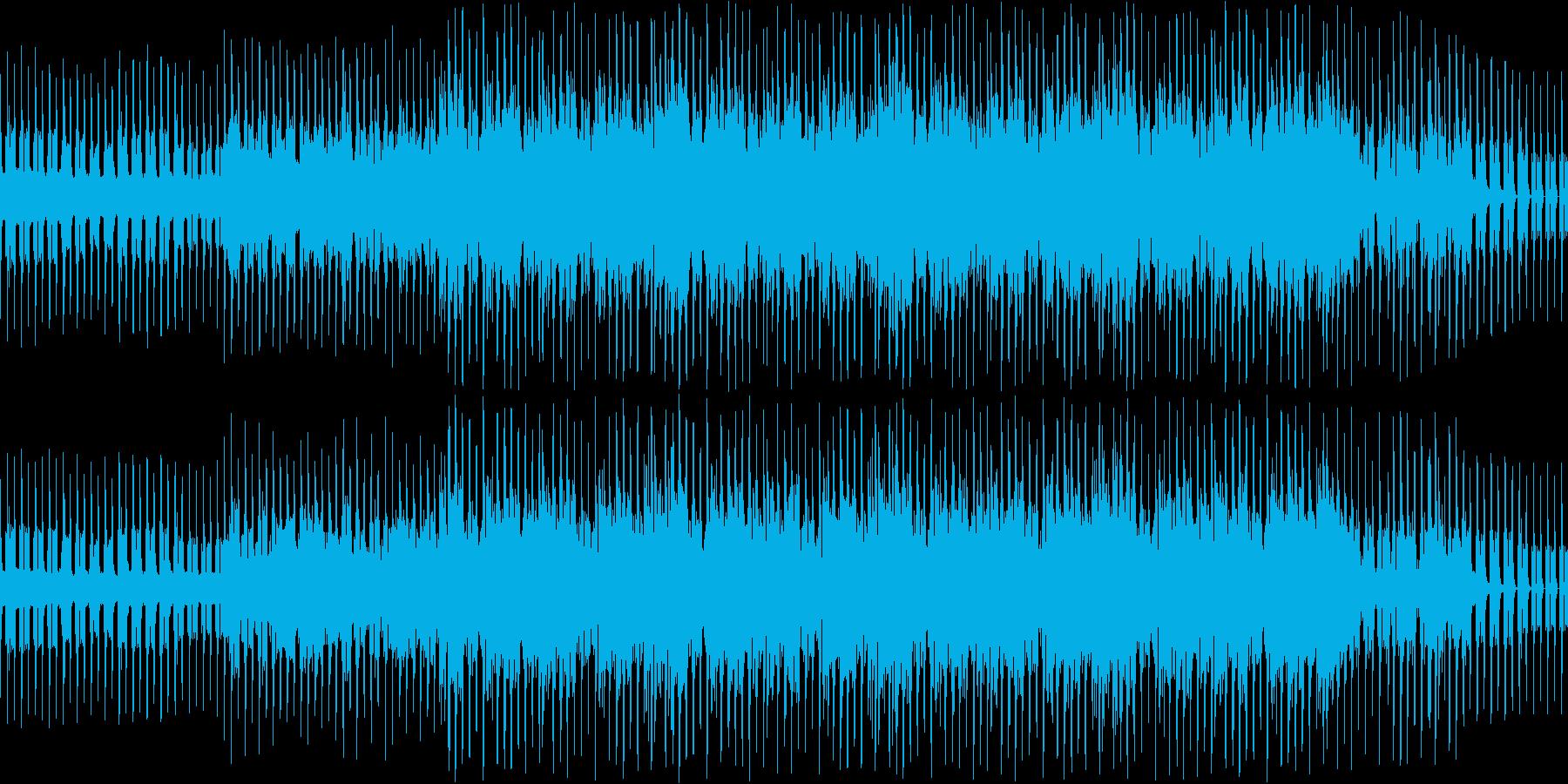 ピアノとシンセとコーラスの落ち着いた曲調の再生済みの波形