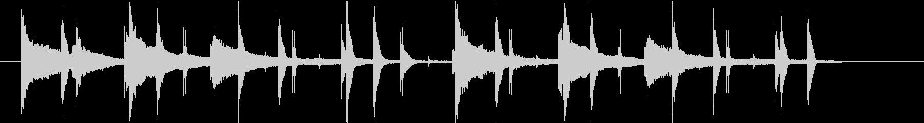 ローファイで切ないビートのジングルの未再生の波形
