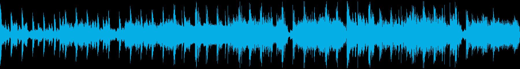 涼しげな印象の短尺BGMの再生済みの波形