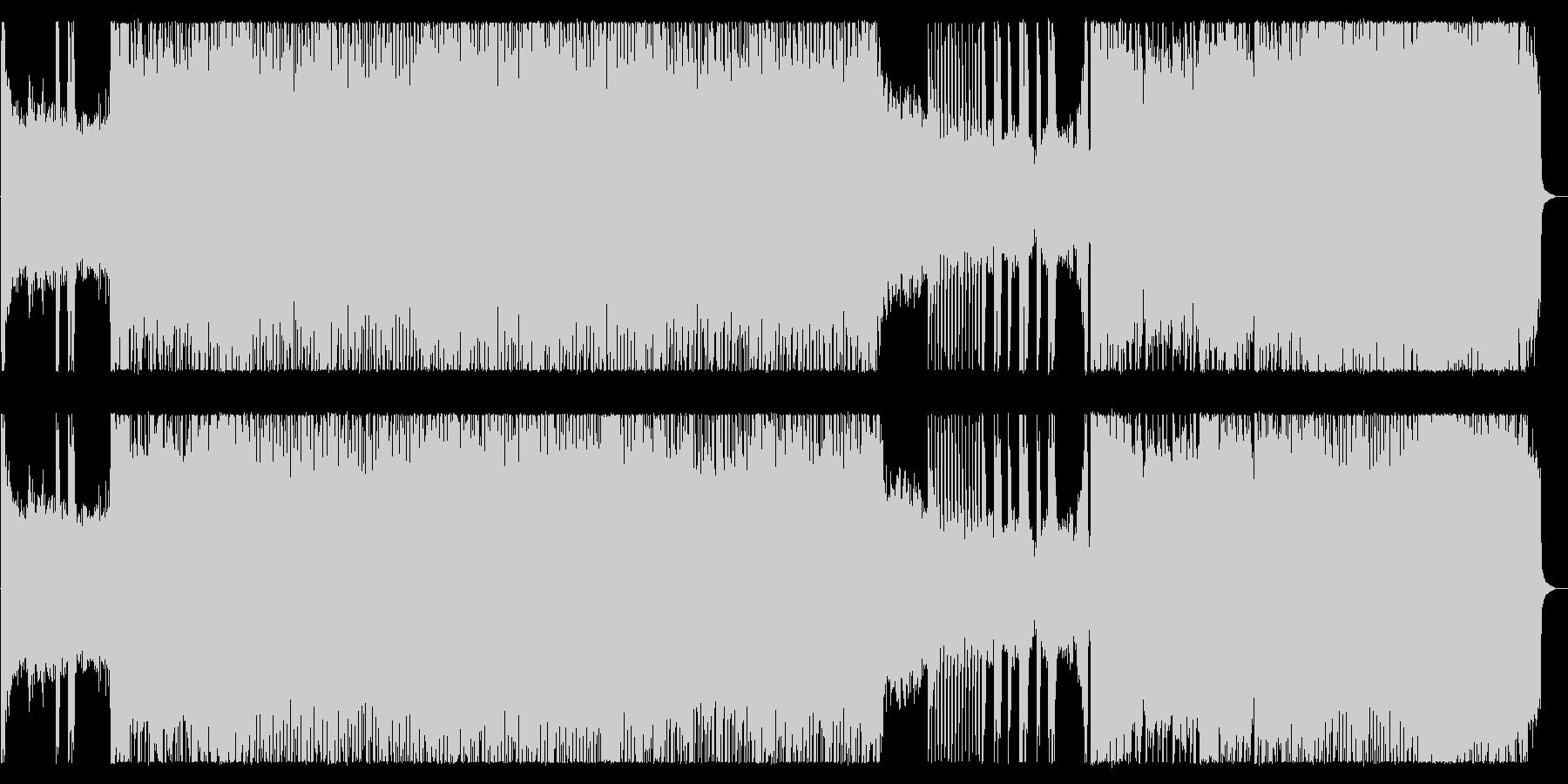 激しいシャウトのハイテンポ極悪デスメタルの未再生の波形