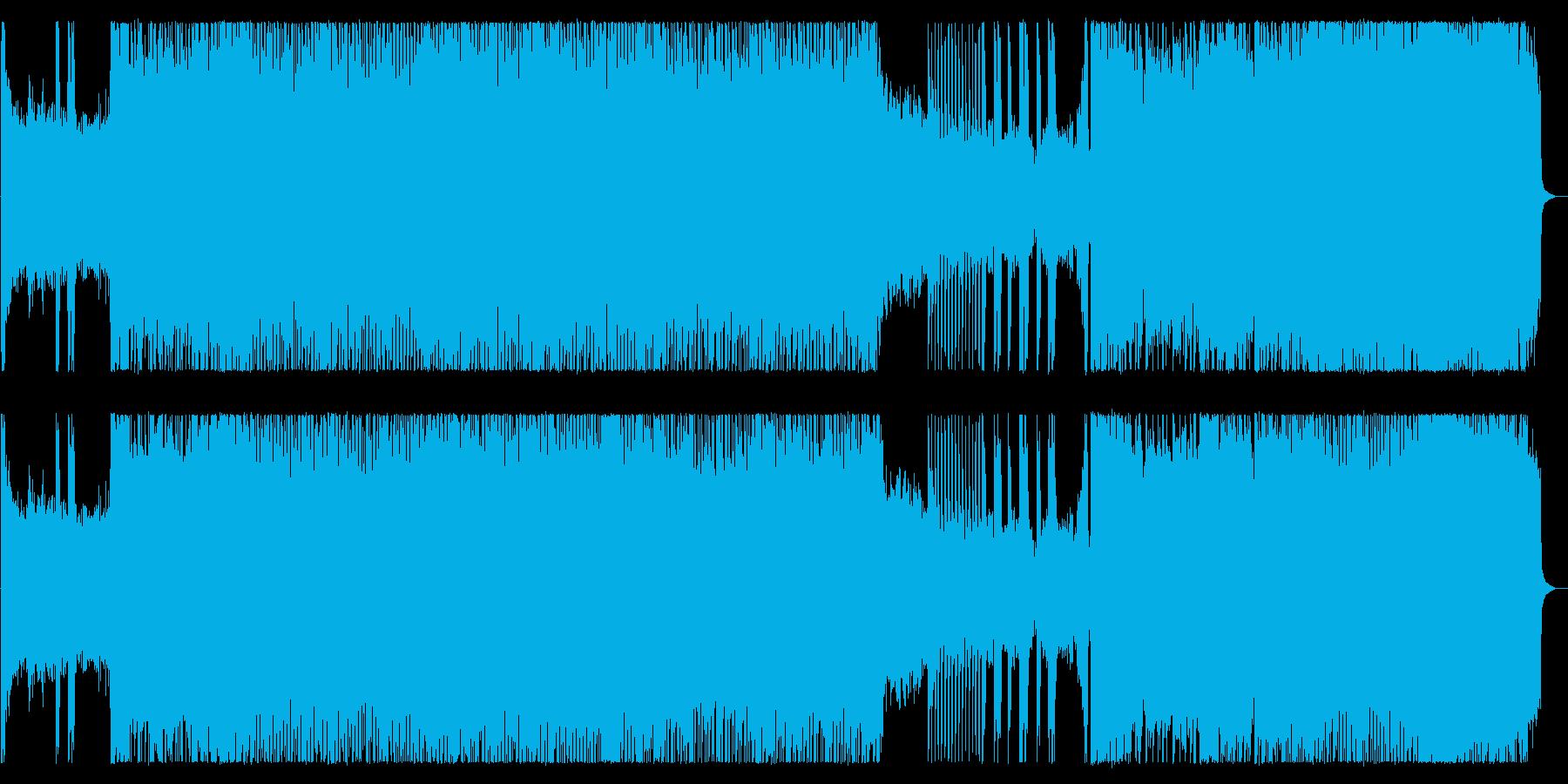 激しいシャウトのハイテンポ極悪デスメタルの再生済みの波形