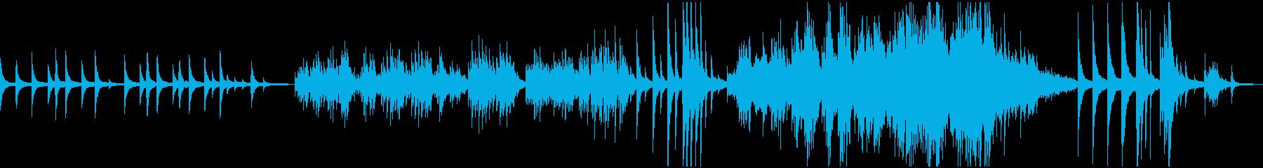ピアノソロ:癒し、暗い雰囲気の再生済みの波形