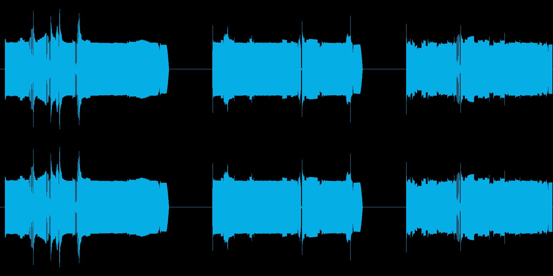 機械 カオスサインディストーション01の再生済みの波形