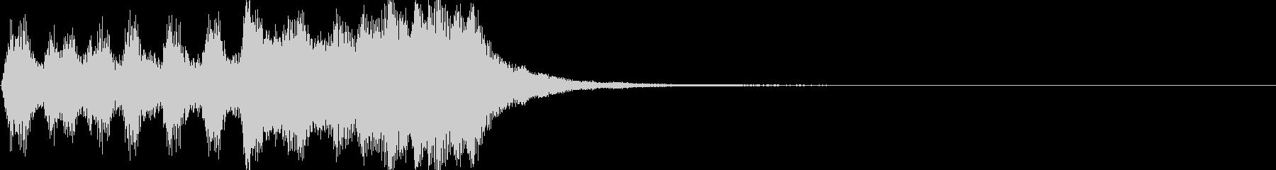 軽い/軽め/小さい ファンファーレ4の未再生の波形