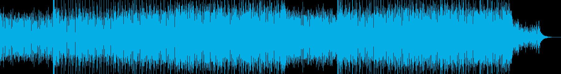現代的で都会的なシンセミュージック-08の再生済みの波形