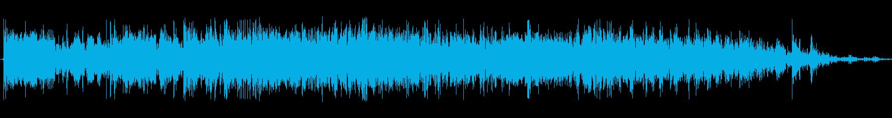 多めの硬貨を早く机に落とす音Cの再生済みの波形