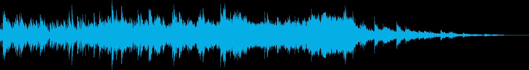 幻想的なハープの音色が儚く響く悲しい音楽の再生済みの波形