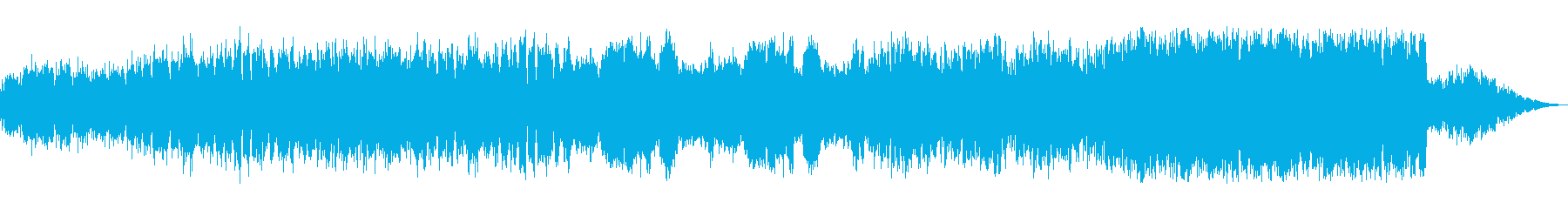 ストリングス中心の壮大オーケストラ曲の再生済みの波形