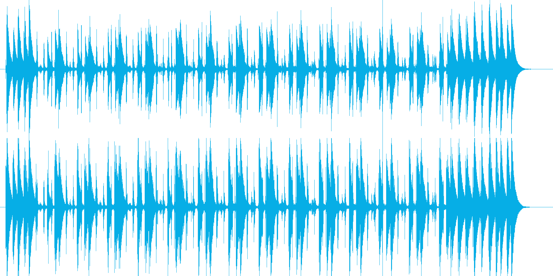 コンガの躍動するリズムLa Bomba2の再生済みの波形