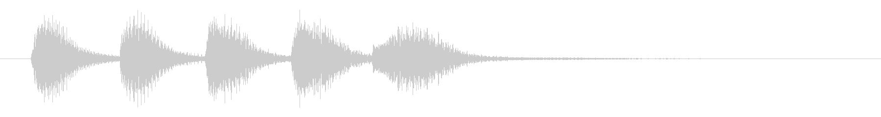 ピアノ/発表・疑問提起・軽快なサウンドの未再生の波形
