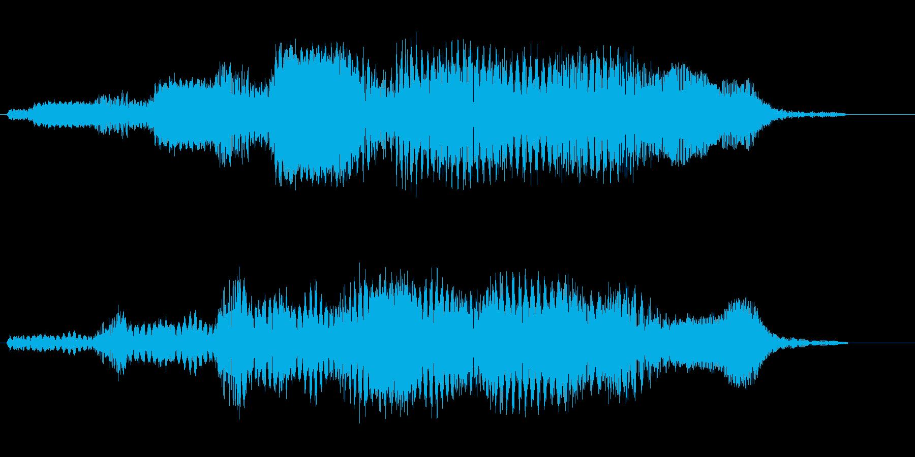 コミカル飛行音(宇宙人の道具の様な音)の再生済みの波形