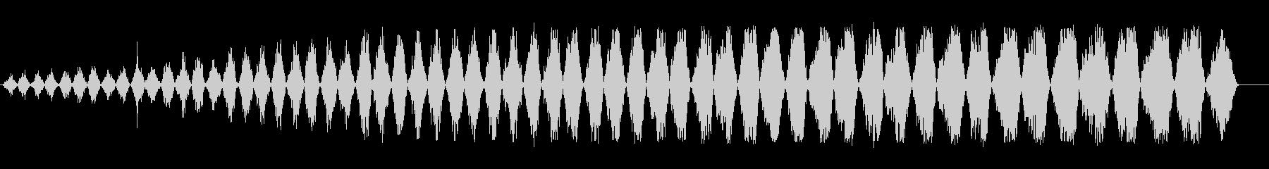 バララララ(細かく刻む効果音)の未再生の波形