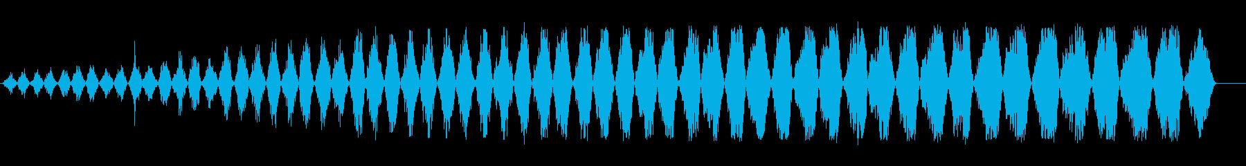 バララララ(細かく刻む効果音)の再生済みの波形