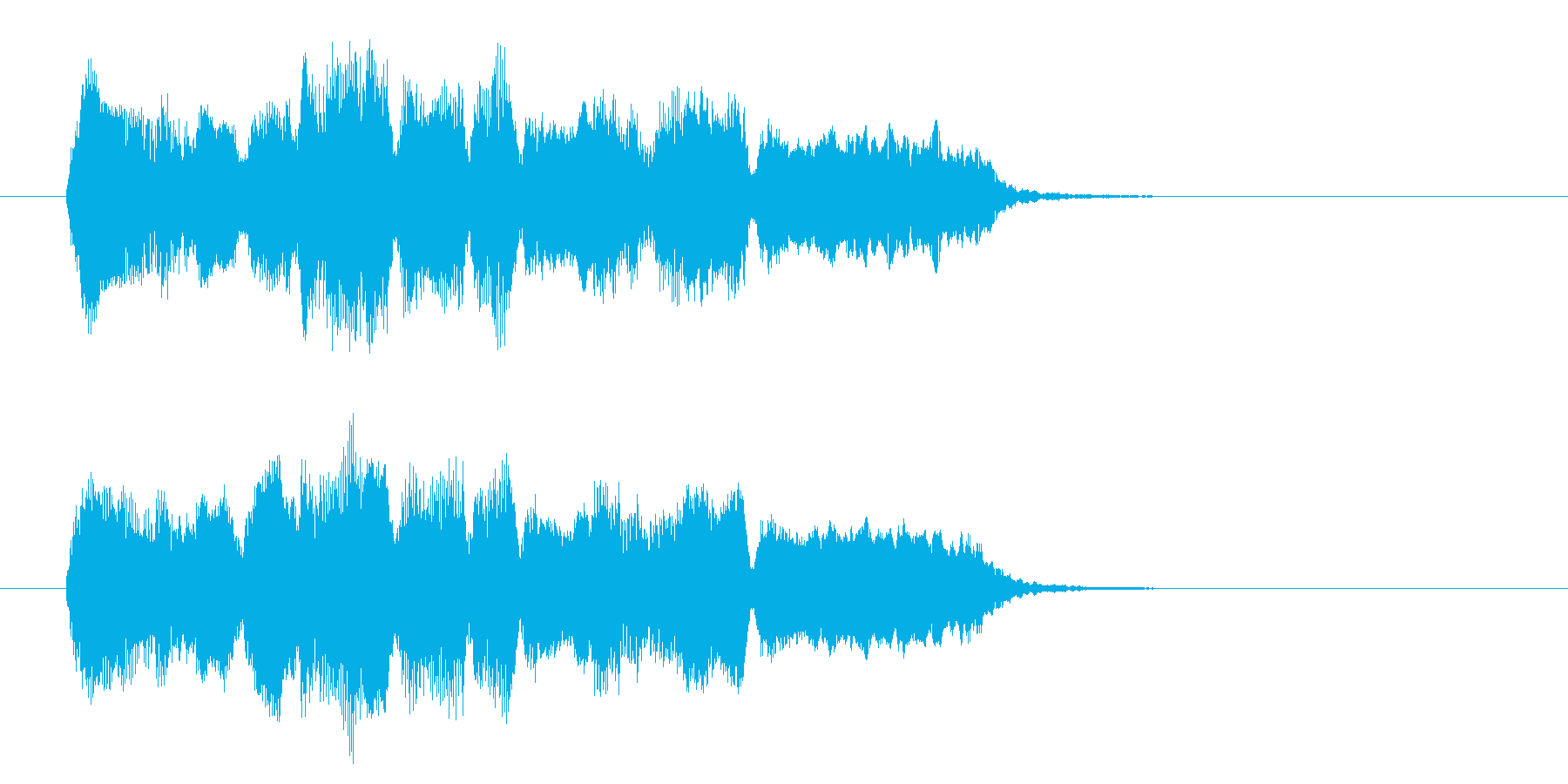 中国風アイキャッチ☆ジングル5の再生済みの波形