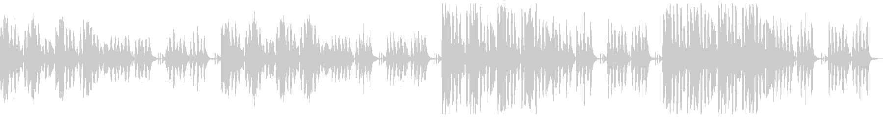 かわいくコミカルなリコーダーのループ曲の未再生の波形