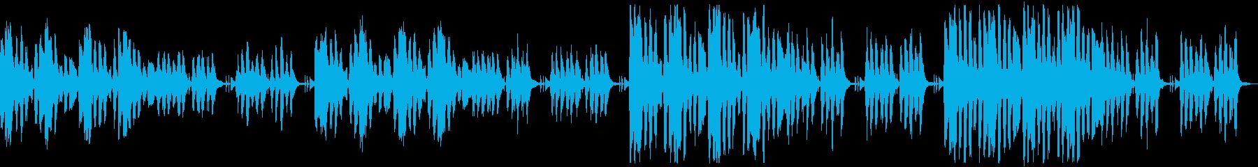 かわいくコミカルなリコーダーのループ曲の再生済みの波形