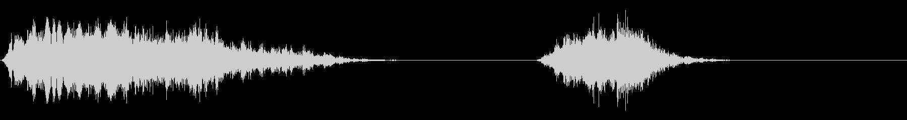 シューー/カーテン開閉音(手動)の未再生の波形