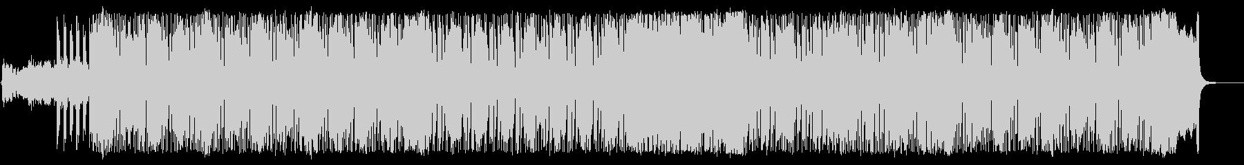 緊迫感のあるテクニカルなヘヴィメタルの未再生の波形