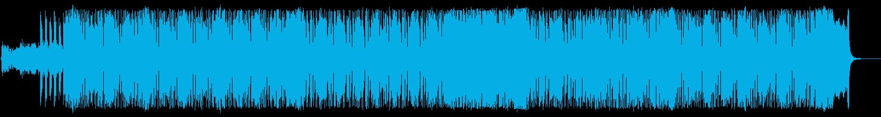 緊迫感のあるテクニカルなヘヴィメタルの再生済みの波形