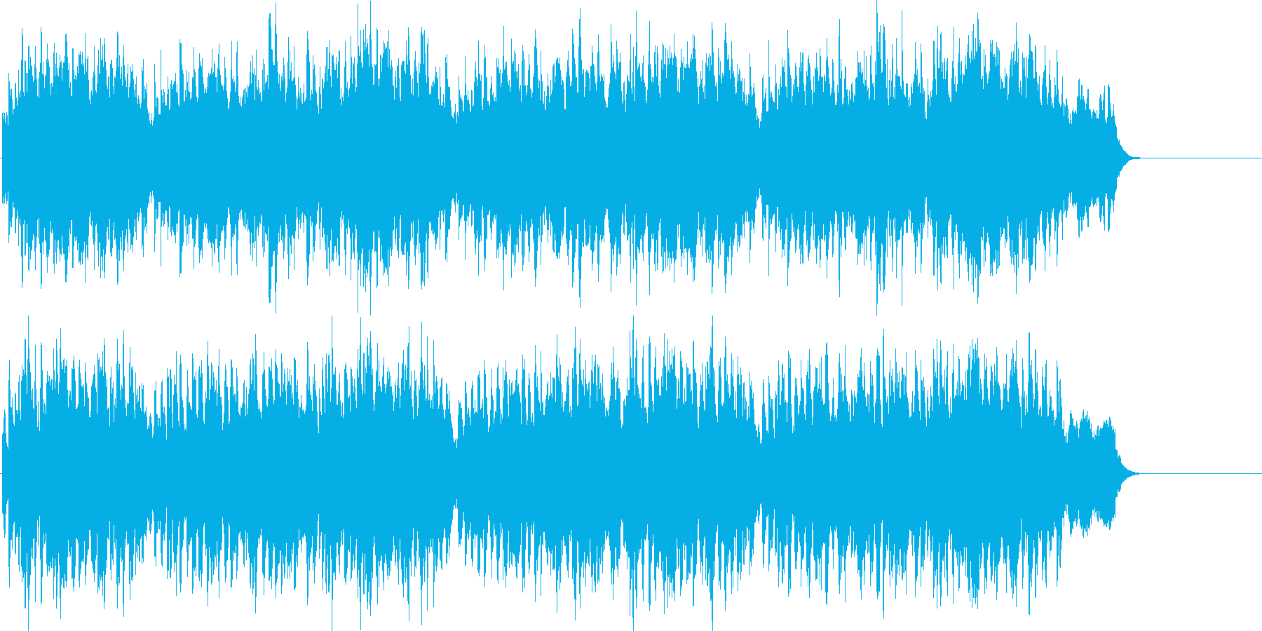 アップテンポのクリスマスソングです。の再生済みの波形