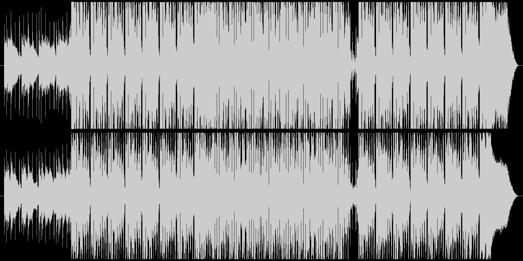かわいくて元気な4つ打ちシンセポップの未再生の波形