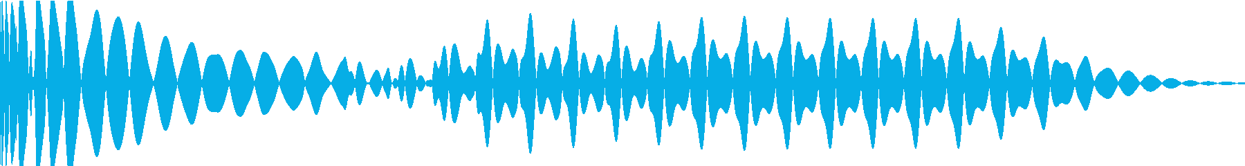 EDMキック キーAの再生済みの波形